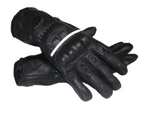 Sportbike Gloves MG253 Black Scotchlite Gloves MG253 Black Scotchlite Gloves